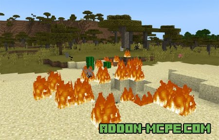 Мод: Замена лианы Криперами в Minecraft